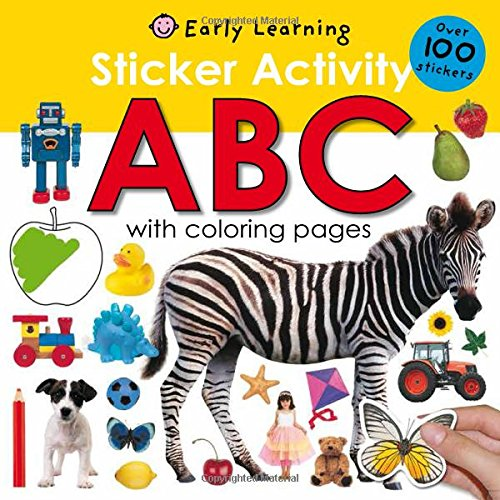 sticker activity book travel toy for toddler